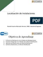 Sesión 3 - Localización de Instalaciones