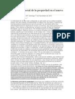 La función social de la propiedad en el nuevo Código Civil