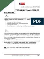 examen partiel maths financieres L3 BAF 2020 urgent ZOOM