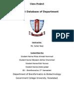 Department Database