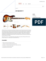 American Ultra Jazz Bass® V | Electric Series