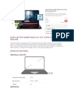 REDY FLORES ACER LAPTOP GAMER AN515