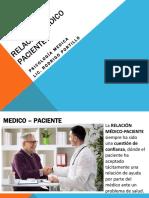 Unidad V Relación Medico Paciente