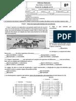 Teste Avaliação 8º CN - Ecossistemas, níveis de organização