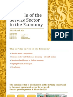 The Role of the Service Sector in the economy