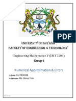 EMT 3200 - GROUP 6- NUMERICAL APPROXIMATIONS & ERRORS - REPORT