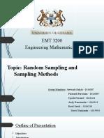 Group 1 - Random Sampling and Sampling Methods