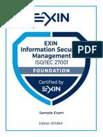 ISO 27001 foundation exam sample