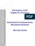MM Systems - Expansion Joint Submittal Package - Aeropuerto Intl Monsenor Romero - El Salvador
