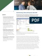 Manufacturing in Microsoft Dyamics NAV 2009 (Navision) ERP