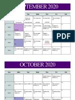 principles of psychology calendar 2020 2021