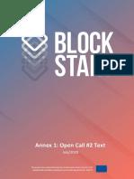 BlockStart Annex 1 Open Call 2 Text