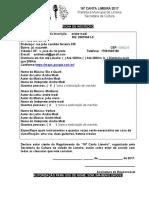 Regulamento Canta Limeira 2017 Fichas