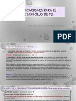 INDICACIONES PARA EL DESARROLLO DE T2