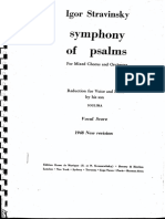 Strawinsky Sinf. dei Salmi