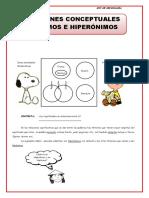 HIPONIMOS E HIPERONIMOS 4TO