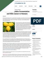 [Cáncer vs Ácido Cítrico] - Citric Acid Inhibits Fermentation and Kills Cancer in Humans. Mihaela Catalina Stanciu Foundation for Life