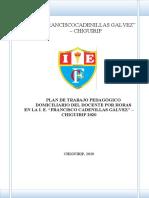 Plan de trabjo pedagógico domiciliario - 2020 - 16 al 30 marzo Nolberto