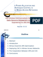 Adaptive Power Allocation and Call Admission Control in Multi Service Wimax Access Networks