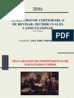 JUSTICIA ESTADOS UNIDOS CERTIORARI spf PPT  EN PDF