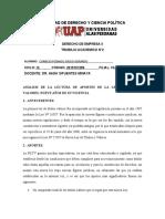 ANÁLISIS DE LA LECTURA Y PRINCIPIOS DOCTRINALES