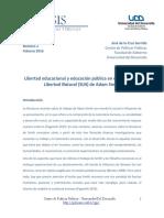 """""""Libertad Educacional y educación pública en el SLN de Adam Smith"""" José de la Cruz Garrido"""