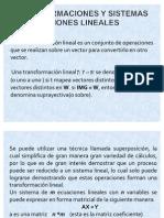 gracielaTRANSORMACIONES Y SISTEMAS DE ECUACIONES LINEALES