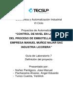 Lab 07 CONTROL DE NIVEL EN LA ETAPA DEL PROCESO DE EMBOTELLADO DE LA EMPRESA MANUEL MUÑOZ NAJAR SAC INDUSTRIA LICORERA
