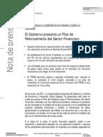 Nota de prensa del Ministerio de Economía (24 enero 2011)