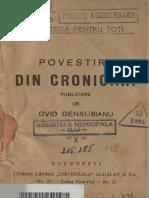 Povestiri Din Cronicari (1920) - Ovid Densusianu
