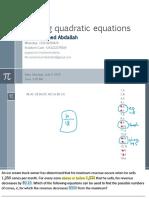 Quadratic eqn 6
