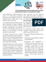 Informe Jurídico de Sind-UTE/MG - Ação do FGTS para os ex-servidores da LC 100