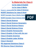 CBSE Study Material for Class 6