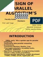 DESIGN OF PARALLEL ALGORITHM'S