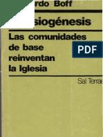 Leonardo Boff  Eclesiogenesis