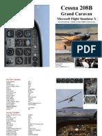 FSX-Cessna Caravan Checklist Speeds Altitudes 208B