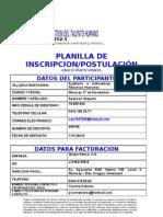 PLANILLA DE INSCRIPCION CH CONSULTORES RRHH C.A.