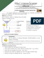 Activité séparer des mélanges CORRECTION.odt