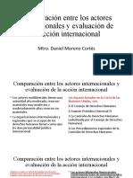Comparación entre los actores internacionales y evaluación de