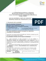 Guia de actividades y Rubrica de evaluacion - Unidad 1 - Tarea 1- Identificar fuentes de contaminacion y sus impactos.docx-convertido
