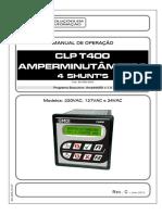 40-000-0147 - MANUAL [90_505_0020] - T400 Amperminutâmetro 4 Shunt's MDI - Rev_C