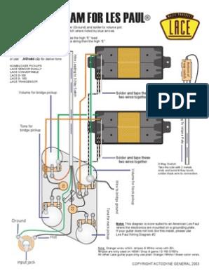 [DIAGRAM_38IU]  Les Paul | Guitars | Musical Instruments | Lace Hemi Humbucker Wiring Diagrams |  | Scribd