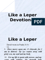 Like a Leper (Devotional)