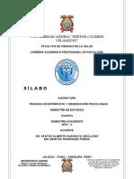SILABO TECNICAS DE ENTREVISTA Y OBS PSICOL 2019- II