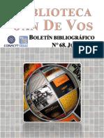 Boletín, Biblioteca Jan De Vos-Junio-2020
