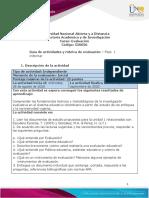 Guia de actividades y Rúbrica de evaluación - Unidad 1 - Fase 1 - Informar