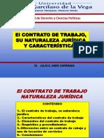 El contrato de trabajo, su naturaleza jurídica y características