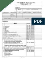 formulario lista de chequeo plan anual hse empresas contatistas