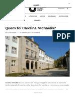 Quem foi Carolina Michaelis?