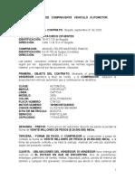 CONTRATO    DE   COMPRAVENTA   VEHÍCULO   AUTOMOTOR AZAEL PACHECO